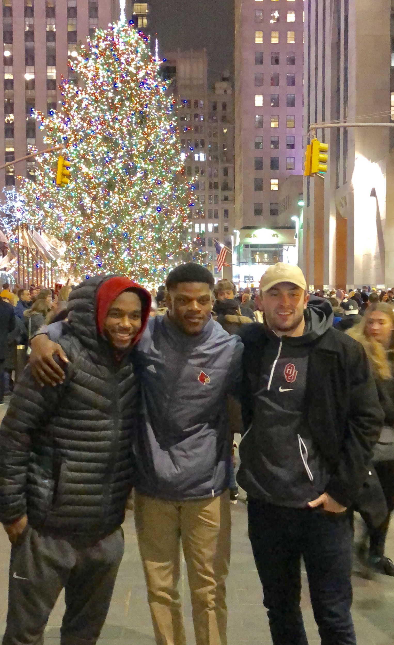 The three finalists at Rockefeller Center