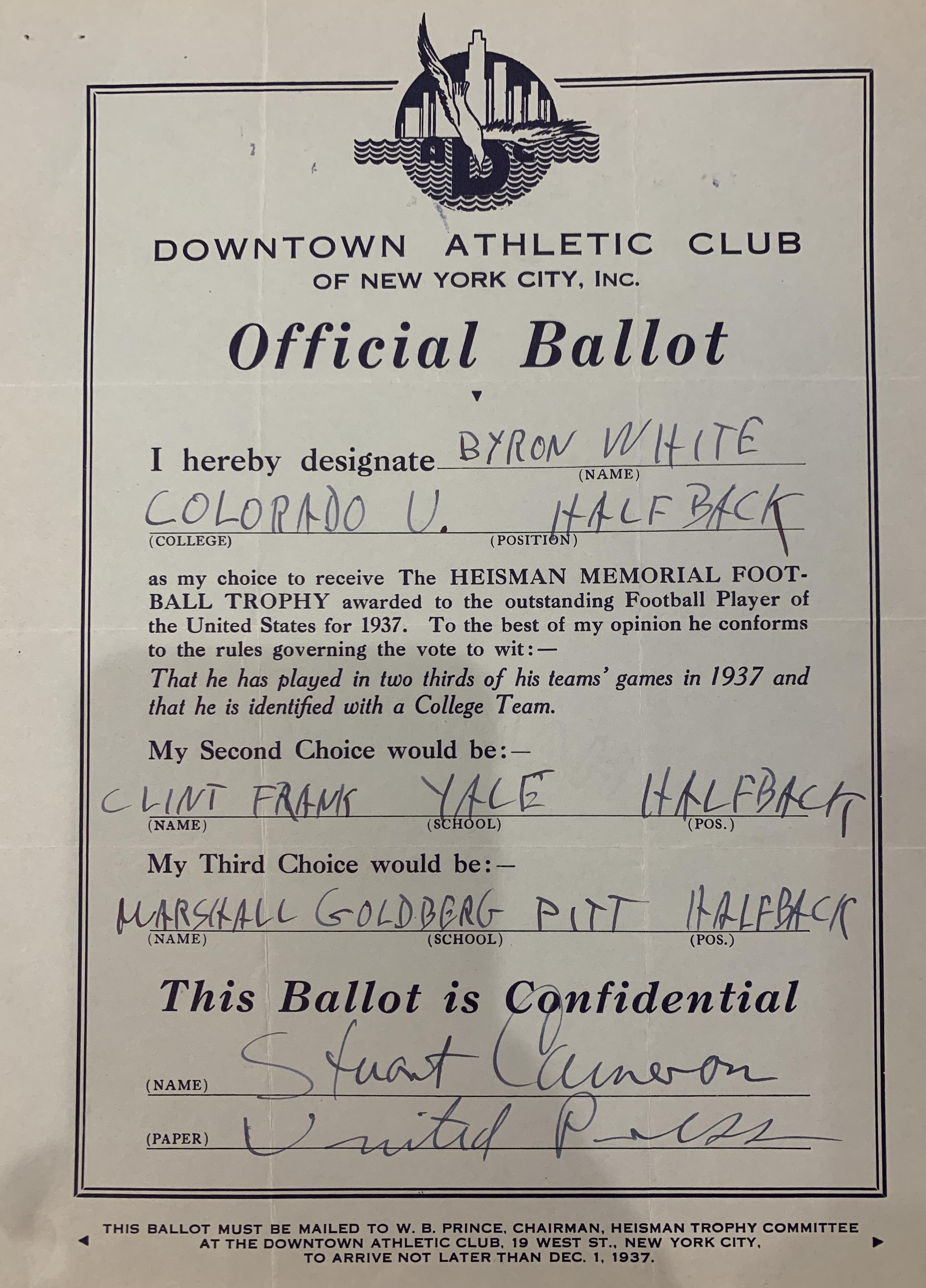 heisman ballot