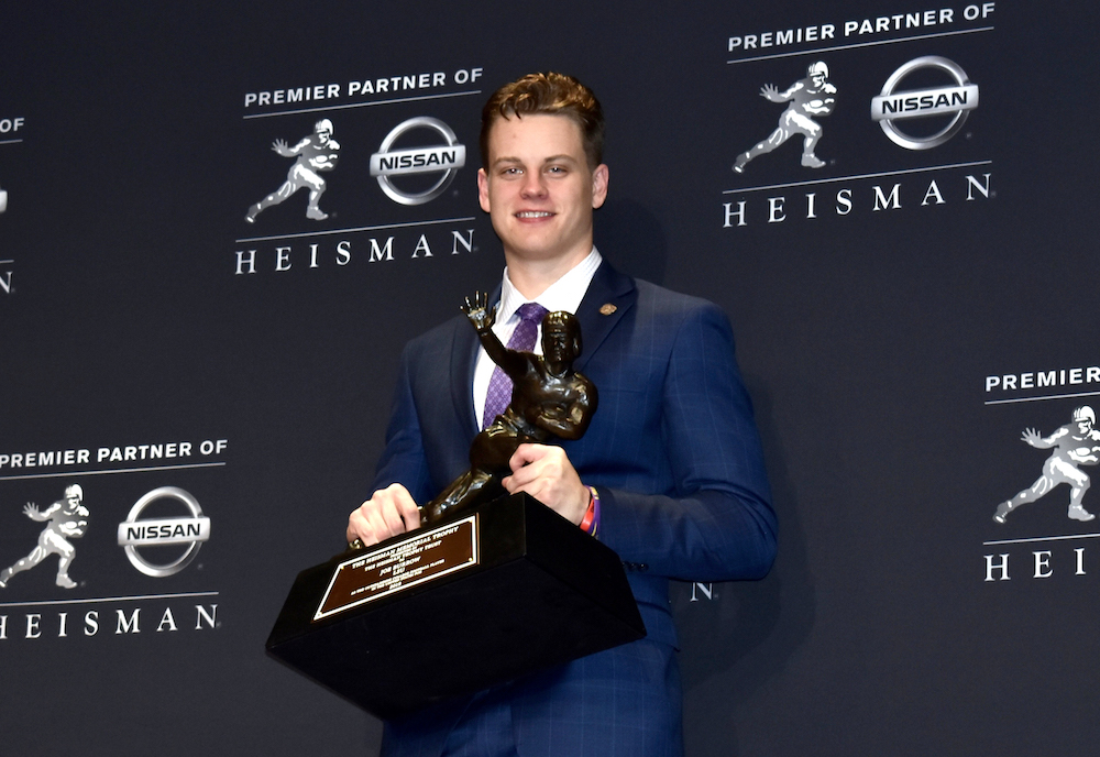 Joe Burrow trophy