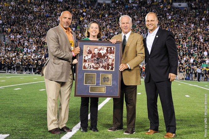 John Huarte Honored on Field Golden Heisman Anniversary