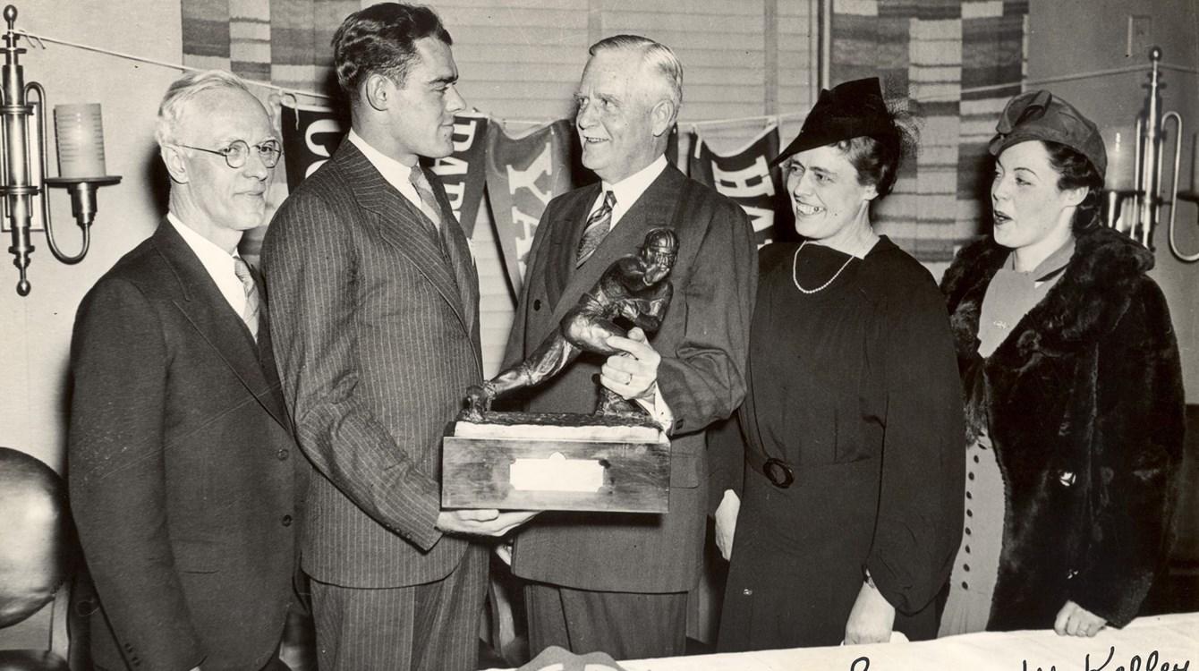 Larry Kelley, 1936 Heisman winner