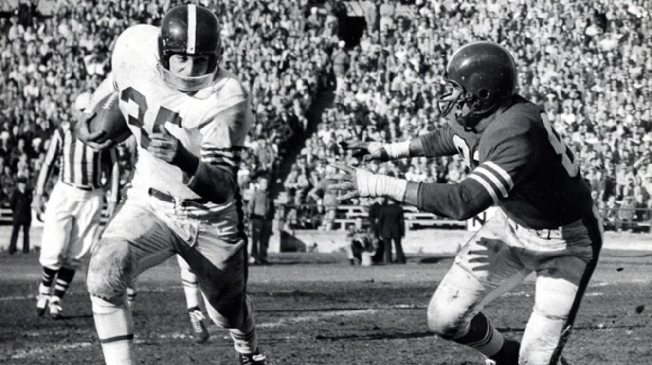 Alan Ameche and Wisconsin vs. Purdue in 1954