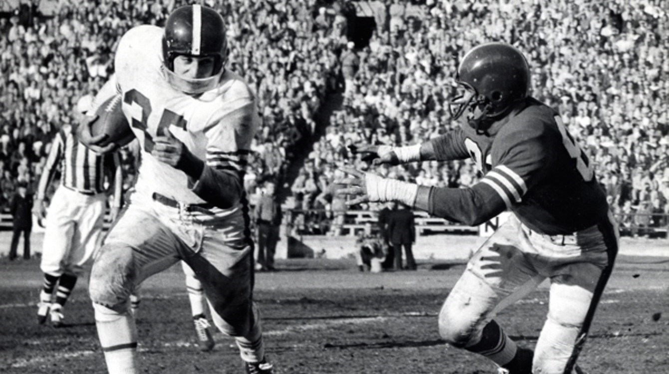 Alan Ameche and Wisconsin vs. Purdue in 1954