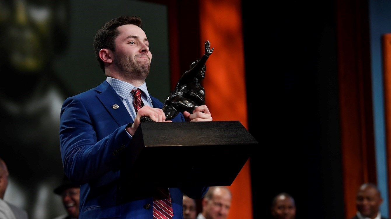 6b68834e1 Baker Mayfield of Oklahoma wins 2017 Heisman Trophy   Heisman